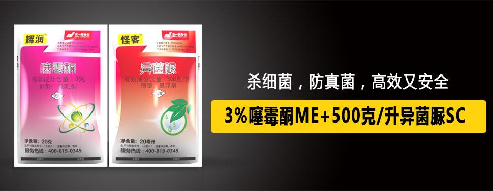 (辉润)3%噻霉酮ME+(怪客)500克/升异菌脲SC